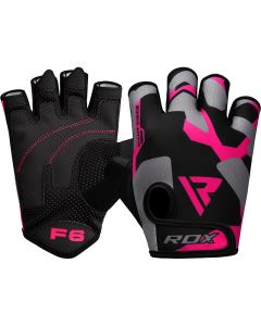 RDX F6 Small Pink Lycra Fitness Gloves