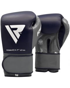 RDX C4 10oz Blue Leather Professional Boxing Gloves