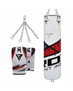 RDX F7 Ego Punch Bag & Bag Gloves-Filled