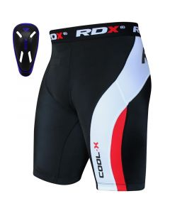 RDX MB Small Blue Neoprene Groin Guard & Thermal Compression Shorts