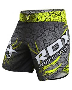 RDX R11 Small Green Polyester MMA Shorts