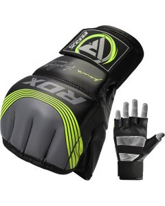 RDX T10 Nemesis  S/M Green Leather X MMA Gloves