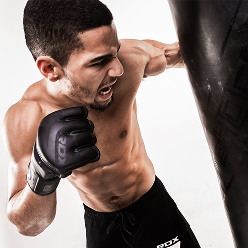 Noir Black MMA Grappling Gloves RDX